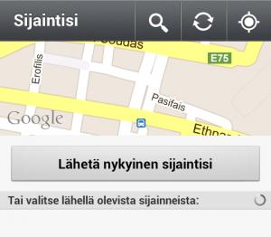 whatsapp-sijainti